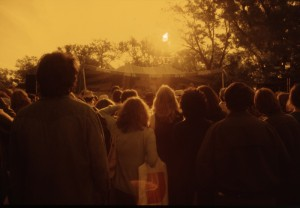 Audience at Mariposa Folk Festival, 1978.