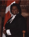 Portrait of Jean Augustine in speakers robes, ca. 2004. Photographer: Teckles Photo Inc.
