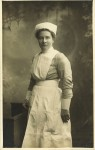 Portait of Florence Bartlett in WWI nurses uniform