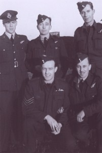 John Watt Lennox, kneeling on left with fellow RCAF servicemen.