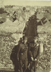 Gordon Stepler with an Officer on campaign in France or Belgium.