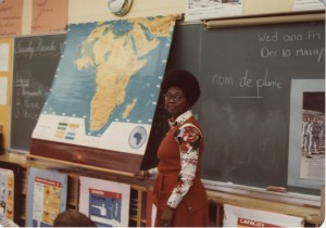 Jean Augustine as a teacher in Toronto. Image no. ASC0443.