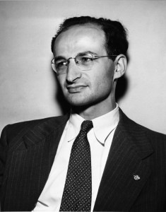 Portrait of Lee Lorch taken by staff at the New York Times, 11 September 1949. Print copy available in archives, image no. ASC05121.