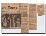 News clippings sent to Grace Lorch in 1957. From Lee Lorch fonds, Accession 2007-054 / 025 (17).