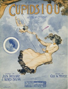 """Cover illustration for """"Cupid's I.O.U."""", call number JAC000065."""