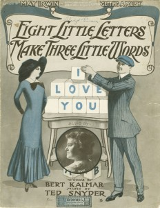 """Cover illustration of """"Eight Little Letters Make Three Little Words (I Love You)"""", call number JAC000385."""