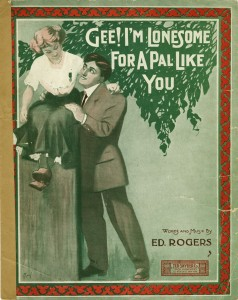 """Cover illustration of """"Gee! I'm lonesome for a pal like you"""", call number JAC000094."""