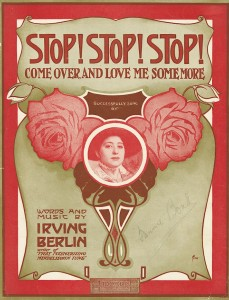 """Cover illustration of """"Stop! Stop! Stop! Come over, and love me some more"""", call number JAC000261."""