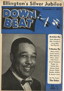 Cover issue of 1952 issue of Down Beat