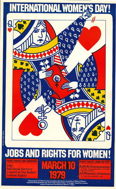 Poster for International Women's Day for March 10, 1979.