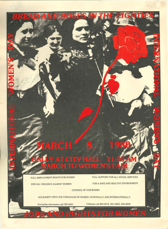 Poster for International Women's Day for March 8, 1980.