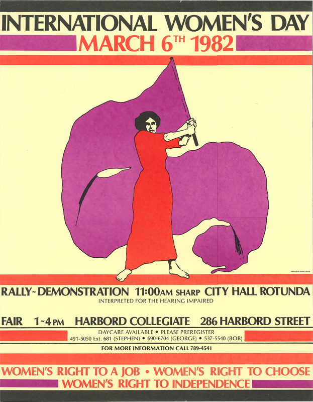 Poster for International Women's Day for March 6, 1982.
