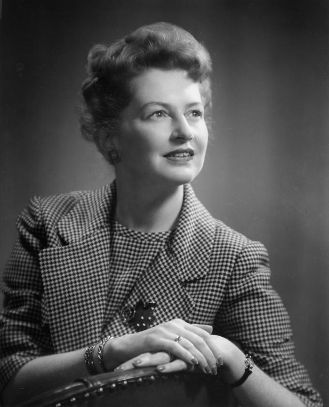 Portrait of Clara Thomas, 1961.York University Libraries fonds, F0066, image no. ASC00502.