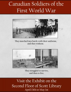"""Advertisement for exhibit """"Canadian Soldiers of the First World War"""